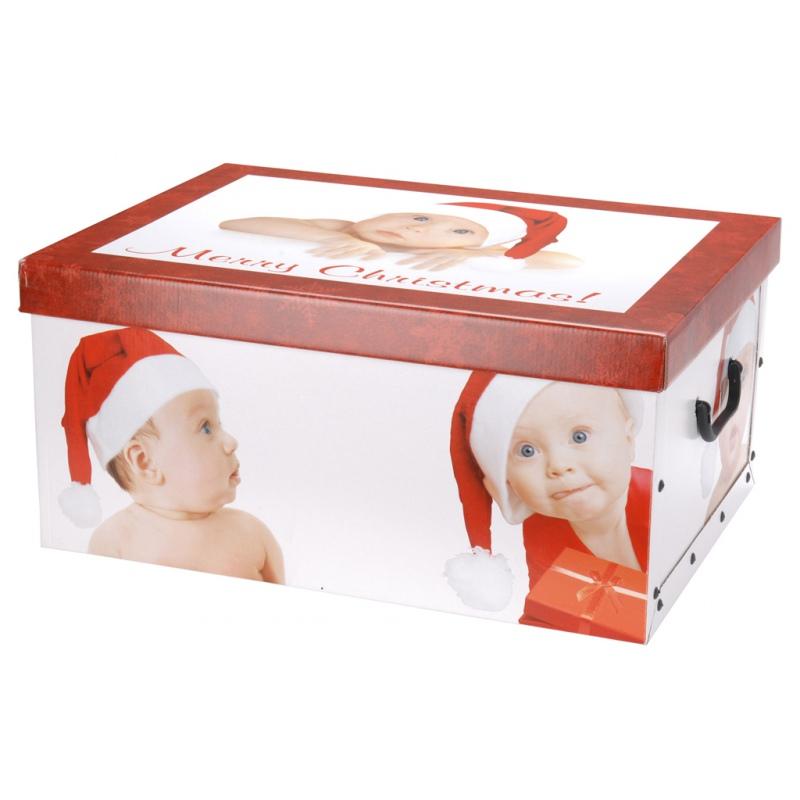 2x aufbewahrungsbox mit deckel weihnachtsmuster bussmanns. Black Bedroom Furniture Sets. Home Design Ideas