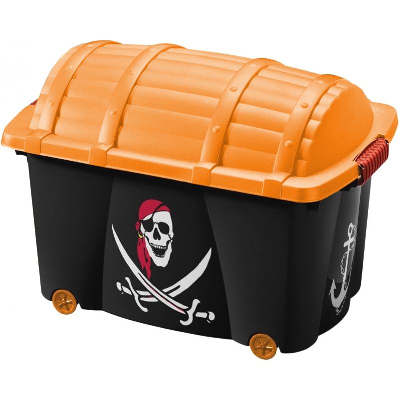 aufbewahrungsbox pirat mit deckel und rollen jetzt bei bussmann. Black Bedroom Furniture Sets. Home Design Ideas