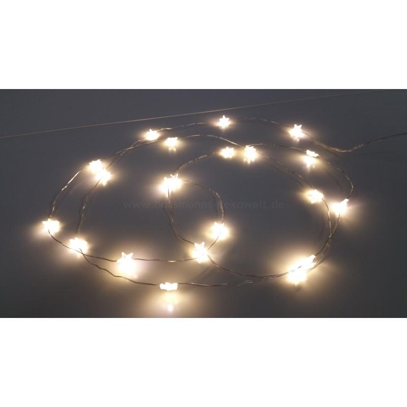 led lichterkette stern 20 leds warmwei innen batterie 8 95. Black Bedroom Furniture Sets. Home Design Ideas