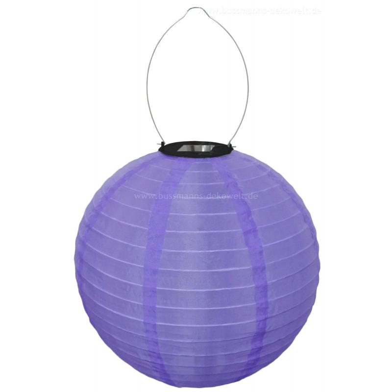 led solar lampion 30 cm bunt rund 5 95. Black Bedroom Furniture Sets. Home Design Ideas